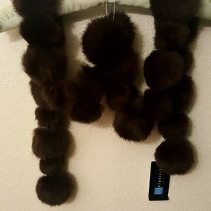 NWT Rabbit Fur Scarf